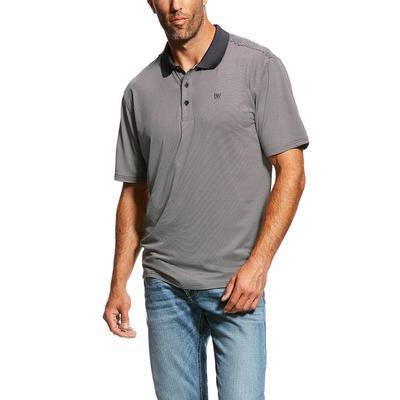 Ariat Men's Short Sleeve Micro Stripe Tek Polo Shirt