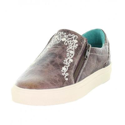 Corall Women's Embroidery Zipper Sneaker Shoes