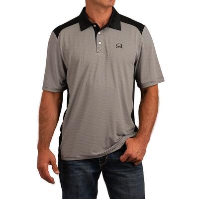 Cinch Men's Short Sleeve Striped Polo Shirt