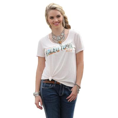 Cruel Girl Women's Cream Rodeo Town T- Shirt