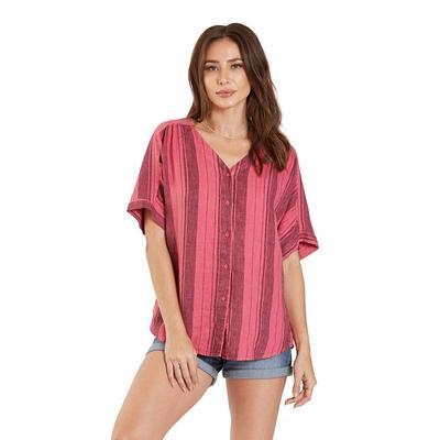 Dear John Women's Short Sleeve Lynn Washed Stripe Top