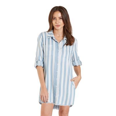 Dear John Women's 3/4 Sleeve Stripe Shirt Dress
