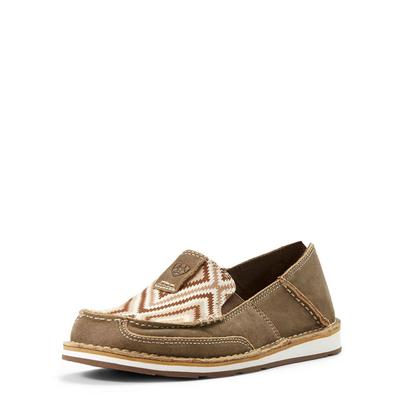 Ariat Women's Tan Brown Aztec Bomber Cruiser Shoes