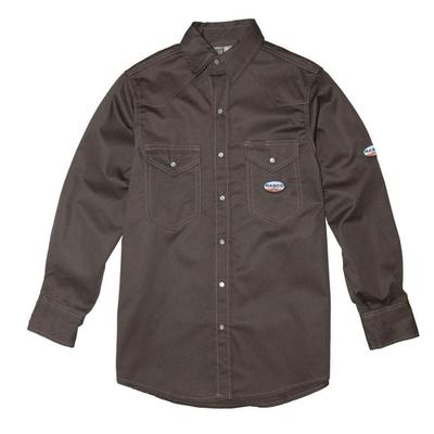 Rasco Men's Grey FR Lightweight Snap Work Shirt