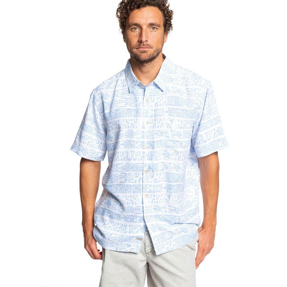 Quicksilver Mens Short Sleeve Morea Myth Button Down Shirt
