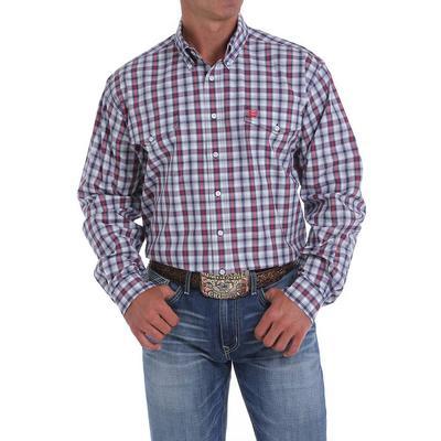Cinch Men's Long Sleeve Plaid Button Down Shirt