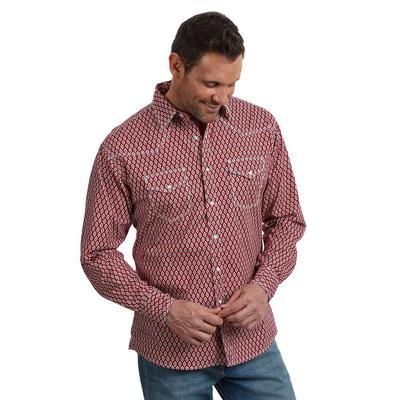 Wrangler Men's Long Sleeve Two Pocket Snap Shirt