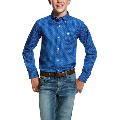 Ariat Boy's Long Sleeve Printed Button Down Shirt