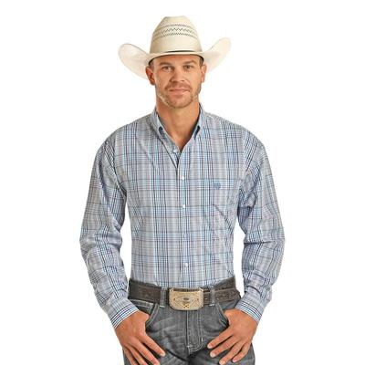 Panhandle Men's Long Sleeve Plaid Button Down Shirt