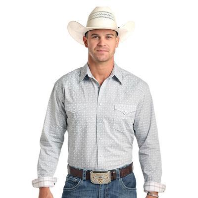 Panhandle Men's Long Sleeve Printed Snap Closure Shirt