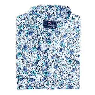 Vineyard Vine Men's Short Sleeve Island Time Classic Murray Shirt