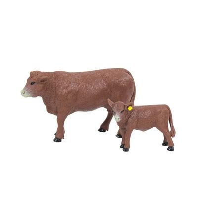 Big Country Farm Toy Kid's Red Angus Cow And Calf