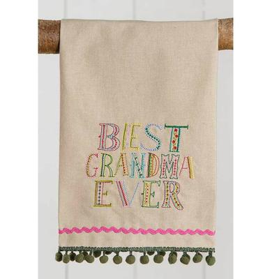 Natural Life Best Grandma Ever Linen Hand Towel
