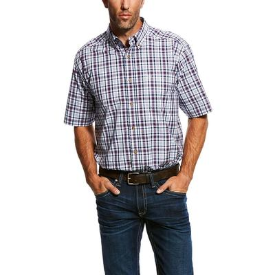9f522fd5 Ariat Men's Short Sleeve Pro Series Classic Button Down Shirt