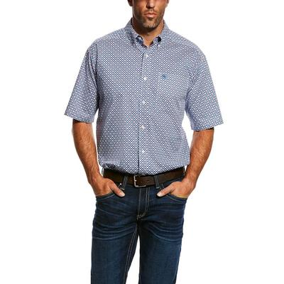 Ariat Men's Short Sleeve Stretch Casual Button Down Shirt