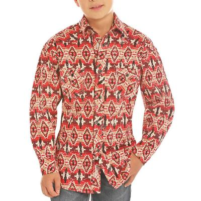 Panhandle Boy's Aztec Print Snap Shirt
