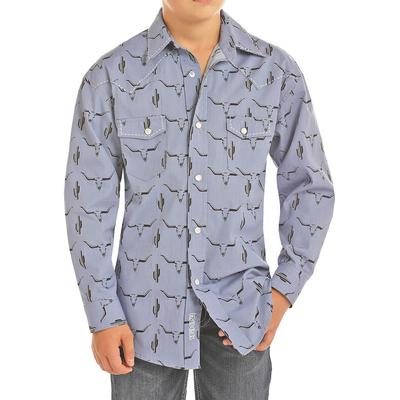 Panhandle Boys Longhorn Snap Shirt