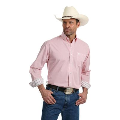 George Strait Long Sleeve Coral Button Shirt