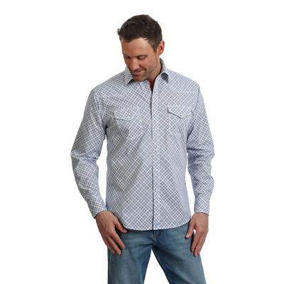 Wrangler 20X Competition Advanced Comfort Blue and White Shirt