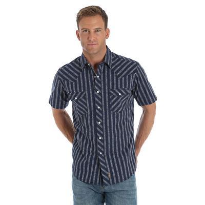 Wrangler Retro Short Sleeve Premium Navy and White