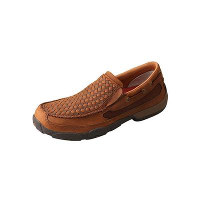 Twisted X Men's Driving Moc Slip On Basket Weave Shoes