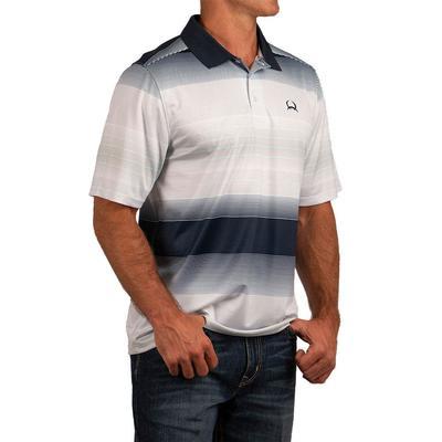 Cinch Men's Short Sleeve ArenaFlex Striped Polo Shirt