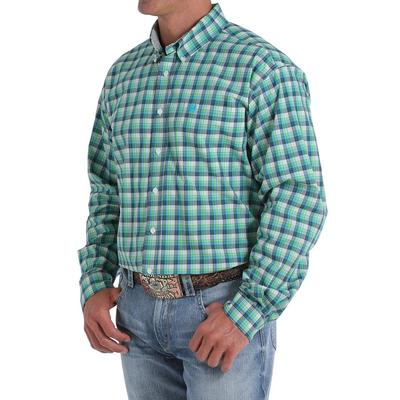 Cinch Men's Long Sleeve Plaid Button Down Shirt