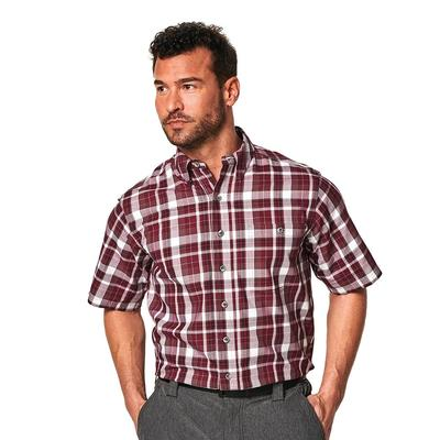Game Guard Men's Short Sleeve Cotton Button Down Shirt
