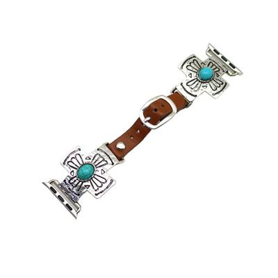 Turquoise Cross Apple Watch Band