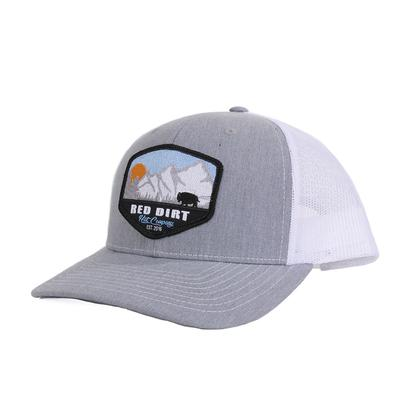 Red Dirt Hat Co.'s Grey and White Mountain Scene Cap