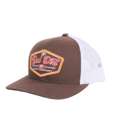 Red Dirt Hat Co.'s Brown and White Patch Cap