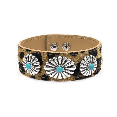 Concho Leopard Snap Bracelet
