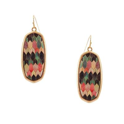 Oval Mosaic Earrings
