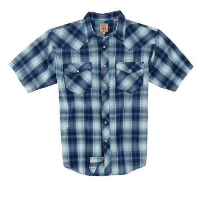 Resistol Men's Short Sleeve Saguaro Ombre Plaid Shirt