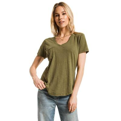Z Supply Women's Short Sleeve Airy Slub Pocket T-Shirt