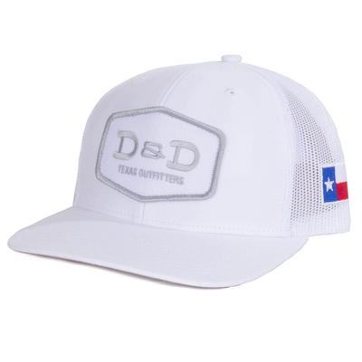 D & D Texas Outfitters All White Texas Flap Cap