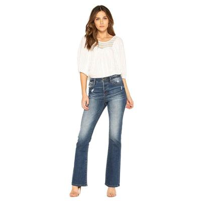 Miss Me Women's High Waisted Boot Cut Jeans