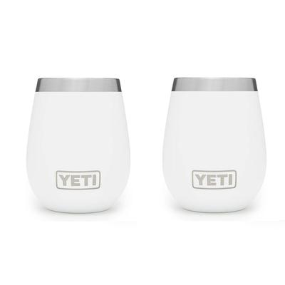 YETI White Rambler 10oz Wine Tumbler 2 Pack
