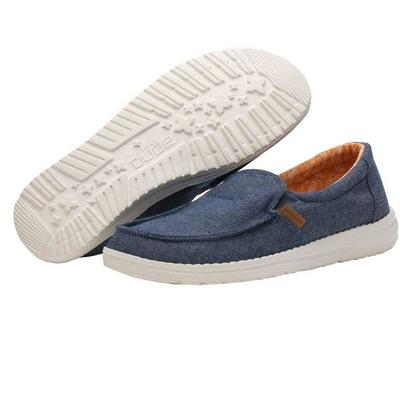 Hey Dude Women's Navy Misty Chambray Shoe