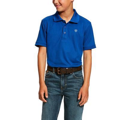 Ariat Boy's True Blue Tek Polo