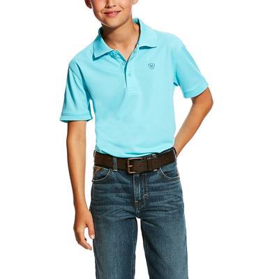 Ariat Boy's Cool Aqua Tek Polo