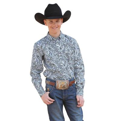 Cinch Boy's Navy Paisley Print Shirt