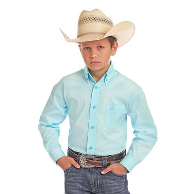 Panhandle Boy's Solid Button Down Shirt