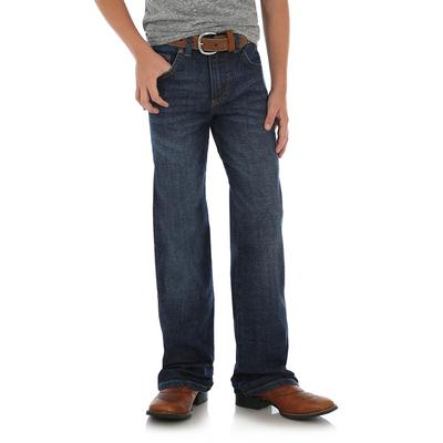Wrangler Boy's Dark Wash Retro Relaxed Straight Jeans