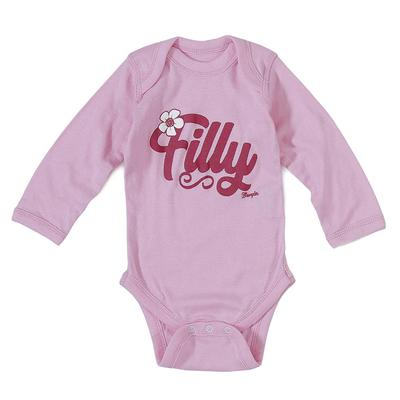 Wrangler Girl's Pink Filly Onesie