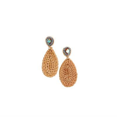Pink Panache's Woven Basket Teardrop Earrings