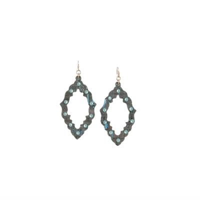 Pink Panache's Marquise Detailed Edge Earrings