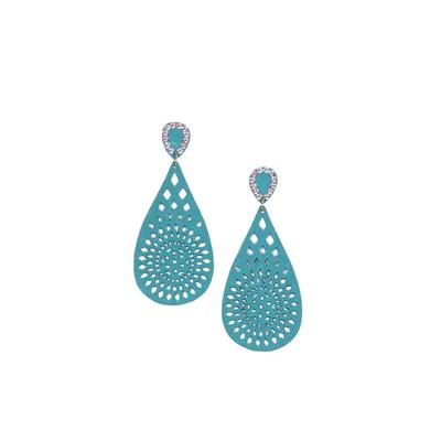 Pink Panache's Teardrop Wood Cut-Out Earrings