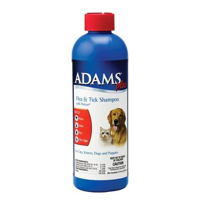 Adams Plus 12oz Flea and Tick Shampoo with Precor