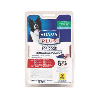 Adams Plus Flea and Tick Spot On For Dogs and Puppies 31-60LBS